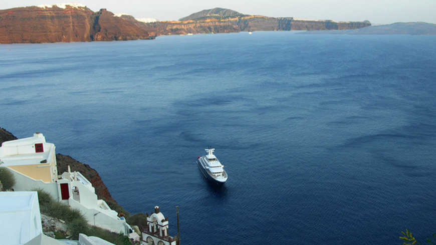 Cruise op de Middellandse Zee: Santorini