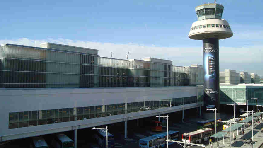 Luchthaven Barcelona, Spanje